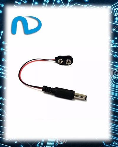 Cabo Adaptador Bateria 9v Para Arduino Jack 2.1x5.5mm Macho