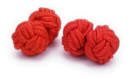 Mancuernillas De Tela Elásticas Vstone Rojo