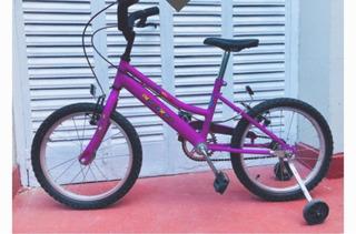 Bicicleta Lucerna Rodado 16 Impecable Casi Nueva