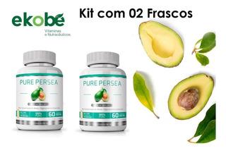 Kit Com 02 Pure Persea 60 Capsulas 1000mg Ekobé - Puríssimo Óleo De Abacate 100%
