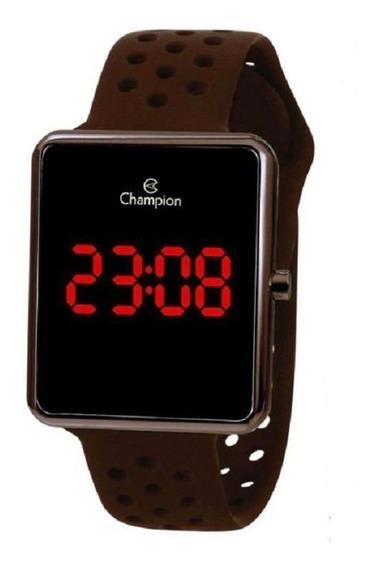 Relógio Unissex Champion Digital Led Ch40081m - Marrom