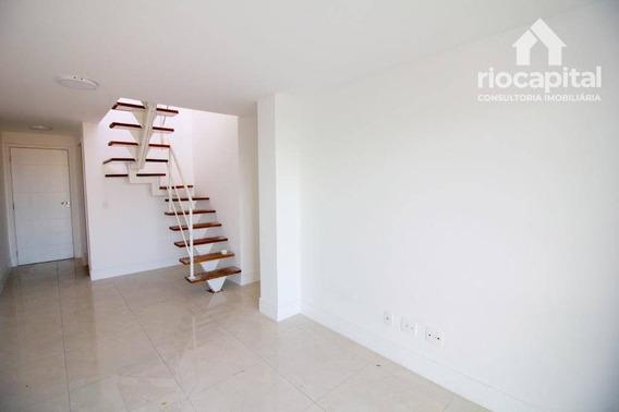Cobertura Com 2 Quartos Para Alugar, 130 M² Por R$ 2.200/mês - Freguesia - Rio De Janeiro/rj - Co0166