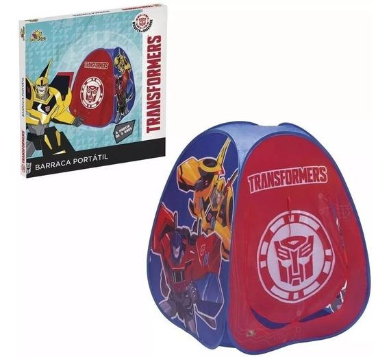Kit Barraca Toca Transformers+piscina Patrulha 100 Bolinhas