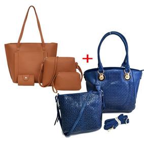 Conjunto De Bolsa Feminina Kit Com 2 Promoção Fg