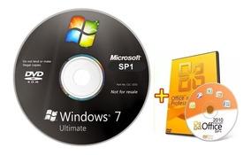 Cd Windows 7 Ultimate 32/64bits Ativado + Office