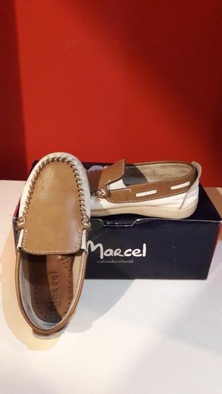 Zapatos Nauticos De Cuero Marron Marcel - Talle 27