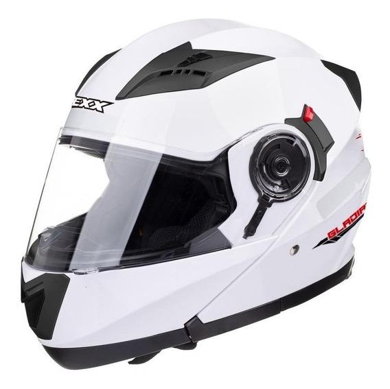 Capacete para moto escamoteável Texx Gladiator branco L