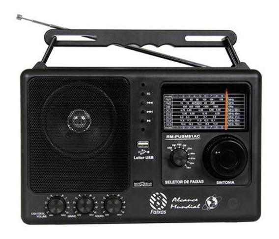 Rádio Motobrás 8 Faixas Fm Oc Com Usb Rm-pusm81ac