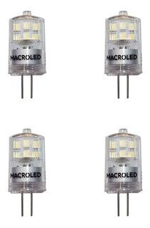 Pack X 4 Bipin Led 2w G4 Luz Fria 6000k 12v Macroled
