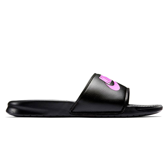 Ojotas Nike Mujer Benassi Just Do It Black -dx
