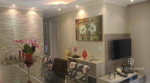 Apartamento Com 2 Dormitórios À Venda, 53 M² Por R$ 280.000,00 - Granja Viana - Cotia/sp - Ap0166
