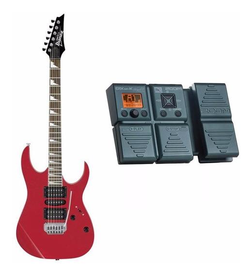 Kit Guitarra Ibanez Grg 170dx Ca + Pedaleira Zoom G1xon-k