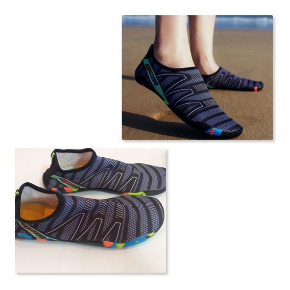 Zapato Deportivo Acuático En Negro Y Gris