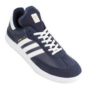 Tenis adidas Samba Adv Piel Azul Talla 29.5cm