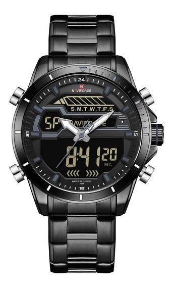 Relógio Naviforce 9133 Esportivo Militar Digital Multifunção
