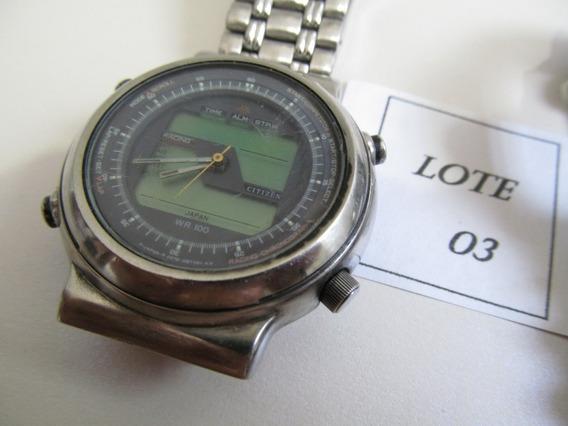 Citizen Lote Nº 03 Relógios Sucatas - Liquidação De Janeiro