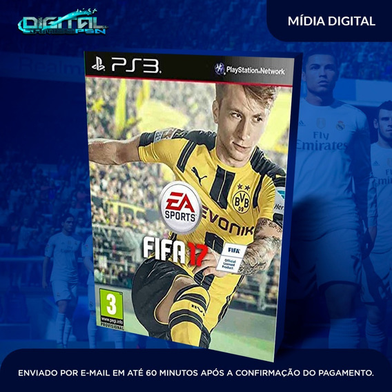 Fifa 17 Ps3 Psn Midia Digital Em 10 Minutos!