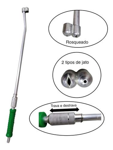 Esguicho Mangueira De Alta Pressao Longo Metal 60cm 2 Bicos