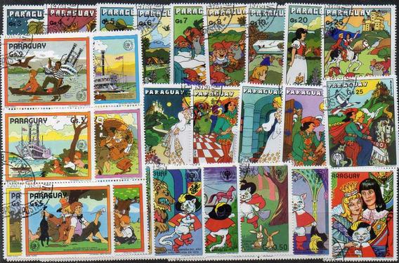 Paraguay Cuentos Infantiles - 4 Series Usadas Completas (32)