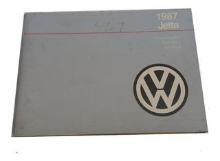 Vw Jetta A2 1987 Manual De Usuario Usado Oem Americano