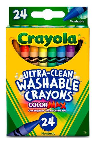Crayola Crayones Lavables Color Max X 24 Unidades Wabro