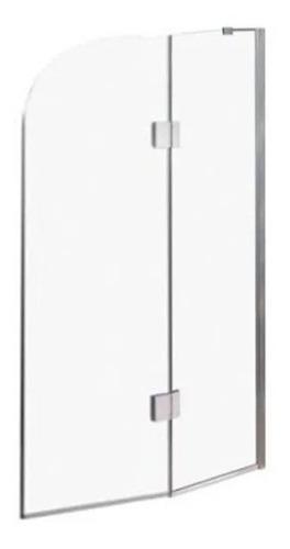 Mampara Rebatible + Paño Fijo  100 X 190. Vidrio Incoloro