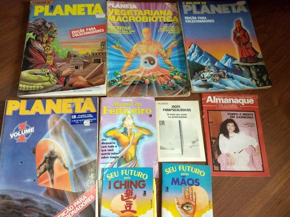 9 Revistas Planeta Antigas ( 3 Grossas Edições Colecionador)