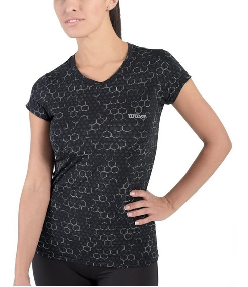 Playera Strong Fit Negra Wilson Talla Chica S Deporte