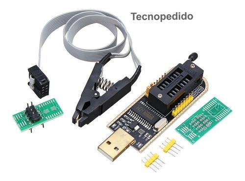 Programador Usb Ch341 + Pinza Cable Bios Eeprom Ch341 Libera