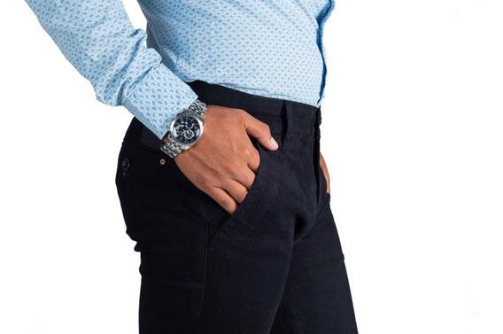Pantalón Casual De Vestir Skinny Negro Para Hombre Descuento