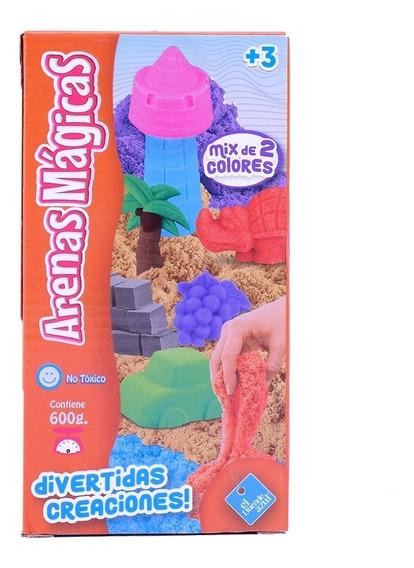 Arenas Magicas Masas Infantiles 2 Colores Kinetica 600 Grs