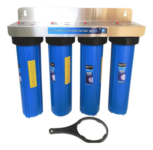 Imagen 1 de 6 de Filtro De Agua 20 Pulgadas Big Blue Para Toda Casa 4 Etapas