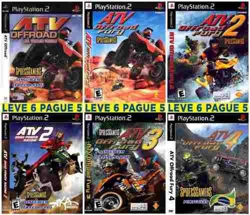 Coleção Atv Offroad Fury (6 Jogos) Ps2 Desbloqueado Patchs