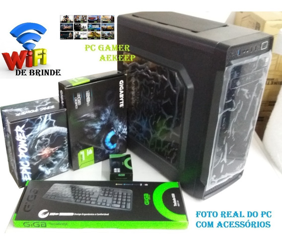 Pc Gamer Cpu Intel Corei5 3geração 8gb Ram+hd 500gb Windows