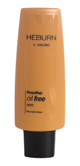 Heburn Base De Maquillaje Oil Free Mate Piel Grasa Cod 124