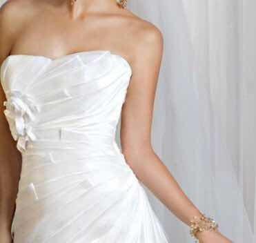 Vestido De Novia Ivory T/12 (m-l) Incluye Tocado De Cristal