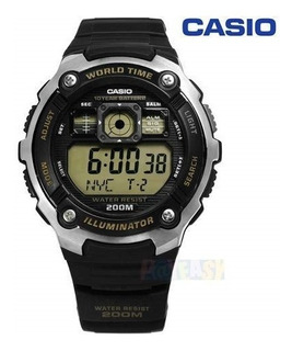 Reloj Casio Ae-2000w-9avd Illuminator, World Time, 200m Sume