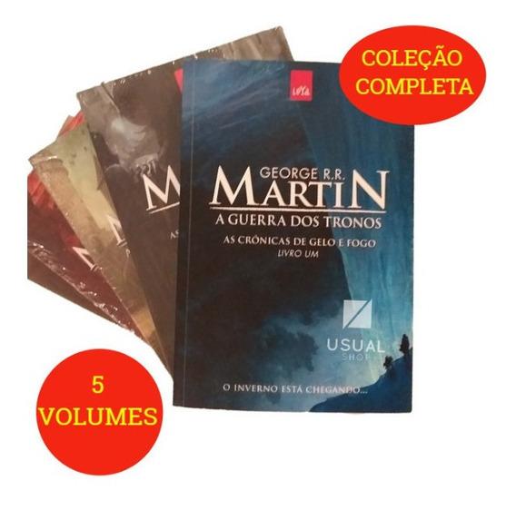 Kit Game Of Thrones - 5 Livros - Em Português - Lacrados