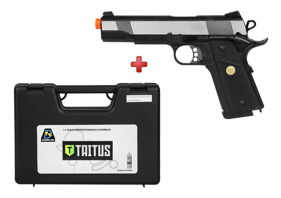 Pistola Airsoft Gbb Colt 1911 728l Full Metal Double Bell