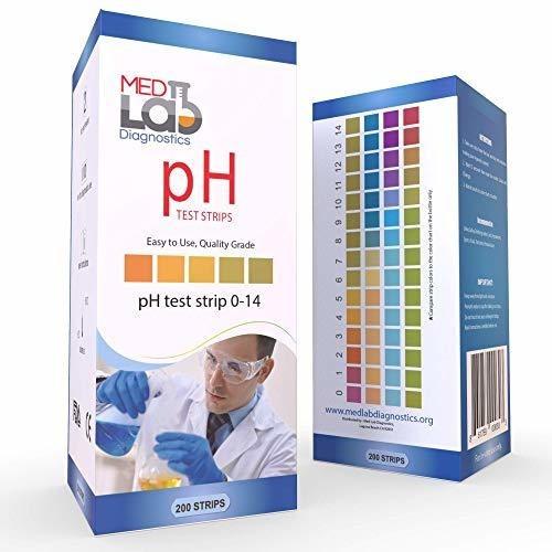 Tira Prueba Ph 0 14 200 Ct Para Orina Saliva Agua