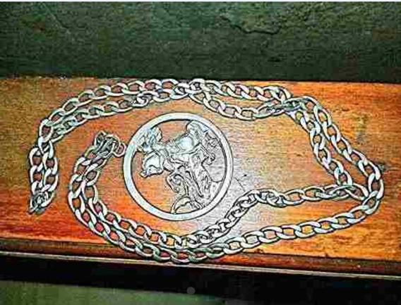 Cordao De Prata Com Medalhão De Sao Jorge