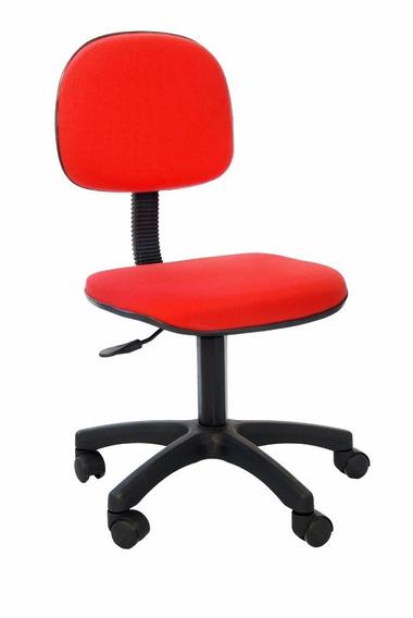 Cadeira Giratoria Secretaria Vermelho