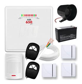 Kit Sistema Alarme Residencial Sensor Sem Fio Jfl Completo