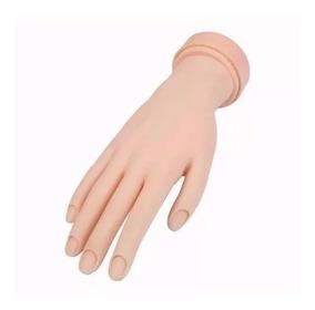 Mão Treino Manicure Unha Gel Natural Porcelana Fibra Acrige