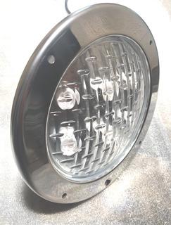 Reflector Led Alberca 24w Acero Inox Nicho 25cm A Colores