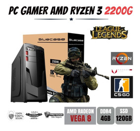 Computador Gamer Amd Ryzen 3 2200g 3.5ghz Ddr4 Ssd 120gb