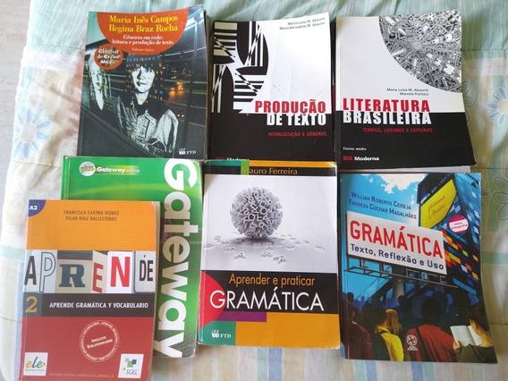 8 Livros Didáticos Ensino Médio Port, Literat, Inglês, Esp..