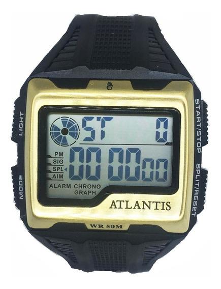 Relógio Atlantis Quadrado Digital Original+caixa Top!!