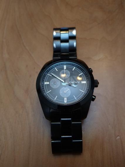 Reloj Dkny Clasico Dial Negro Usado