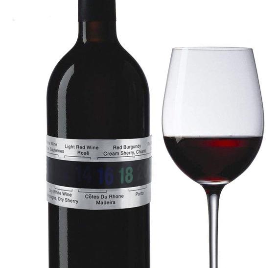 Termometro Digital Vino Brazalete Botella Cata Sommelier